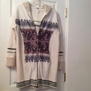 FREE PEOPLE sweater coat.